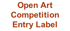 Open Art Competition Entry Label